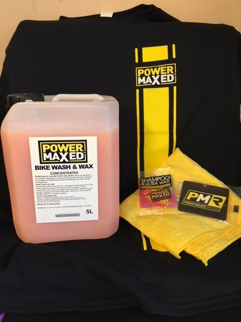 Power Maxed Bike Wash  Wax Spray 1 litre