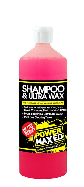 Power Maxed Shampoo & Ultra Wax 1 litre